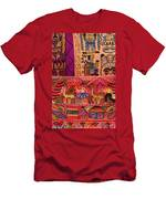 Textiles With Vibrant Colors For Sale Men's T-Shirt (Athletic Fit)