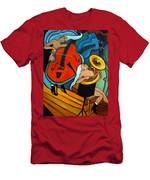 The Tuba Player Men's T-Shirt (Athletic Fit)