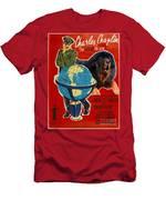 Tibetan Mastiff Art Canvas Print - The Great Dictator Movie Poster Men's T-Shirt (Athletic Fit)