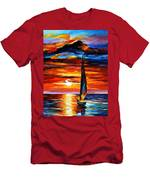 Towards The Sun - Palette Knife Oil Painting On Canvas By Leonid Afremov Men's T-Shirt (Athletic Fit)