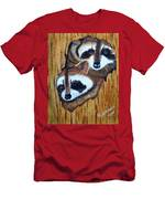 Tree Raccoons Men's T-Shirt (Athletic Fit)