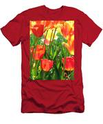 Tulips - Field With Love 69 Men's T-Shirt (Athletic Fit)