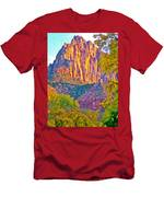 Watchman's Peak In Zion National Park-utah Men's T-Shirt (Athletic Fit)