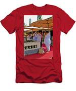 Worshippers In Front Of The Royal Temple  At Grand Palace Of Tha Men's T-Shirt (Athletic Fit)