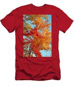 Yellow And Red Men's T-Shirt (Athletic Fit)