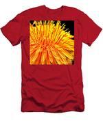 Yellow Chrysanthemum Painting Men's T-Shirt (Athletic Fit)