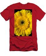 Yellow Daisy Close Up Men's T-Shirt (Athletic Fit)