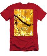 Yellow Leaves Men's T-Shirt (Athletic Fit)