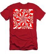 Zebra Red Swirling Kaleidoscope  Men's T-Shirt (Athletic Fit)