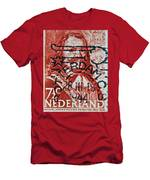 1944 Netherlands De Ruyter Stamp - Rotterdam Cancelled Men's T-Shirt (Athletic Fit)