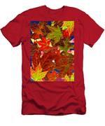 Autumn Leaves Collage Men's T-Shirt (Athletic Fit)