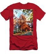 Autumn Street Perspective Men's T-Shirt (Athletic Fit)
