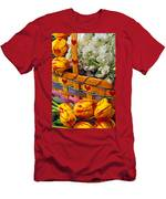 Basket Of Spring Flowers Men's T-Shirt (Athletic Fit)