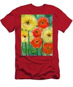 Bright Colored Flowers Shine Men's T-Shirt (Athletic Fit)