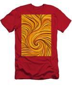 Brown Swirl Men's T-Shirt (Athletic Fit)