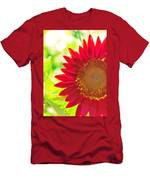 Burgundy Sunflower Men's T-Shirt (Athletic Fit)