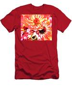 Explosion Of Bright Zinnias Men's T-Shirt (Athletic Fit)