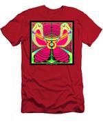 Fluorescent Butterfly Fractal 68 Men's T-Shirt (Athletic Fit)