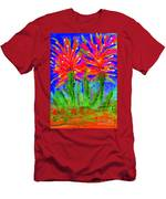 Funky Flower Towers Men's T-Shirt (Athletic Fit)