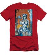 Grafitti Wall Men's T-Shirt (Athletic Fit)