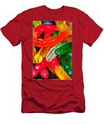Happy Worms Men's T-Shirt (Athletic Fit)