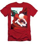 Healing Painting Baby Sitting In A Rose Detail Men's T-Shirt (Athletic Fit)