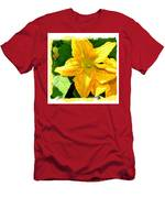 Painted Squash Blossoms Men's T-Shirt (Athletic Fit)