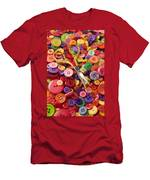 Pile Of Buttons With Scissors  Men's T-Shirt (Athletic Fit)