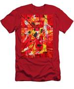 Red Orange Abstract Men's T-Shirt (Athletic Fit)