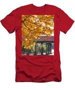 Red Railroad Trestle Men's T-Shirt (Athletic Fit)