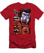 Scary Halloween Masks Men's T-Shirt (Athletic Fit)