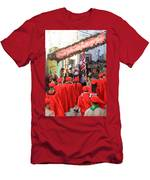Scouts Parade In Bethlehem At Star Street Men's T-Shirt (Athletic Fit)