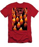 Skull And Candles Men's T-Shirt (Athletic Fit)