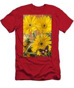 Three Daisy's And Butterfly Men's T-Shirt (Athletic Fit)