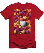 White Heart Candy Men's T-Shirt (Athletic Fit)