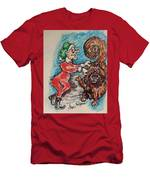 A Elf And Her Dog Men's T-Shirt (Athletic Fit)
