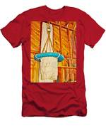 Breeches Buoy In Sleeping Bear Point Boathouse In Sleeping Bear Dunes National Lakeshore-michigan Men's T-Shirt (Athletic Fit)