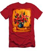 Flowers Modern Abstract Fine Art Canvas Men's T-Shirt (Athletic Fit)