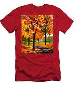 Park By The River Men's T-Shirt (Athletic Fit)