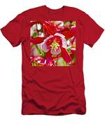 Red And White Columbine At Pilgrim Place In Claremont-california  Men's T-Shirt (Athletic Fit)