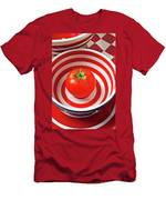 Tomato In Red And White Bowl Men's T-Shirt (Athletic Fit)