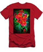 2647- Red Flowers Men's T-Shirt (Athletic Fit)