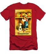 A Happy Halloween Puppy Men's T-Shirt (Athletic Fit)