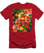Aa One Day At A Time Men's T-Shirt (Athletic Fit)