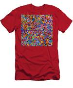 Abstract Colorful Flowers 4 Men's T-Shirt (Athletic Fit)