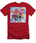 Abstract Colorful Flowers Men's T-Shirt (Athletic Fit)
