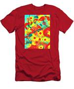 Abstract Floral Fantasy Panel A Men's T-Shirt (Athletic Fit)