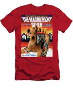 Airedale Terrier Art Canvas Print - The Magnificent Seven Movie Poster Men's T-Shirt (Athletic Fit)