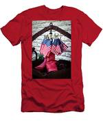 All American Flag And Red Boots - Painterly Men's T-Shirt (Athletic Fit)