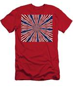 American Flag Kaleidoscope Abstract 6 Men's T-Shirt (Athletic Fit)